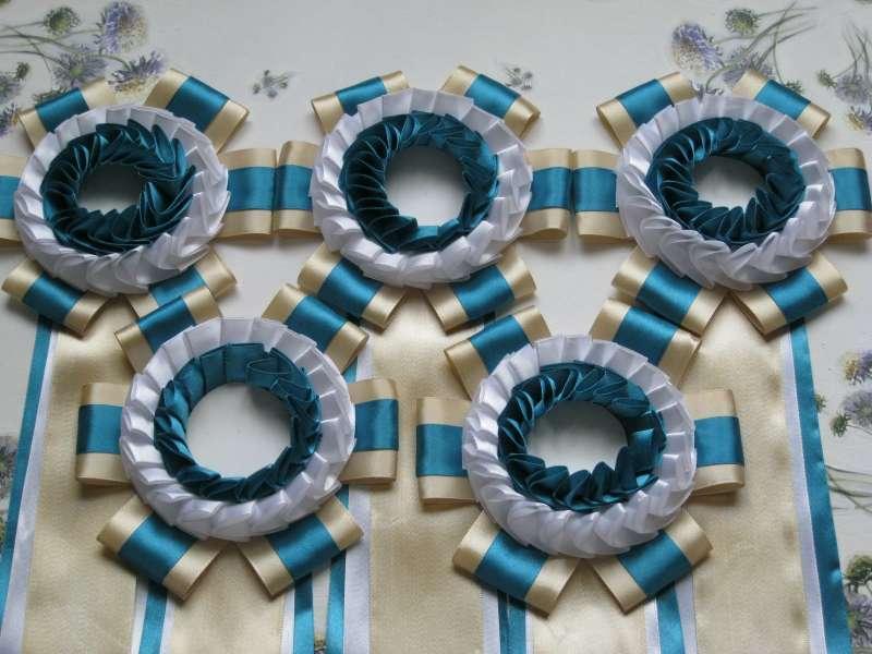 Наградные розетки для выставки кроликов в Туле весной 2012 года